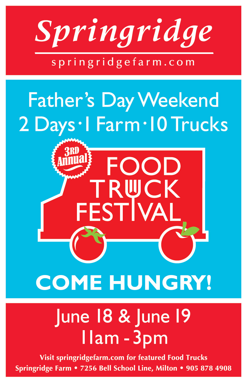 Save the date for the Springridge Farm Father's Day Weekend Food Truck Festival